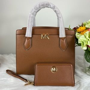 MICHAEL KORS LARGE SATCHEL & WALLET SET
